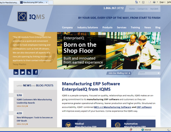 New IQMS Website Front