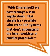 Manufacturing ERP Software that understands the complexity of plastics manufacturing
