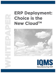 Learn why choice is the new cloud when it comes to ERP deployment options.