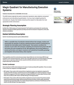Download Gartner's Magic Quadrant for MES